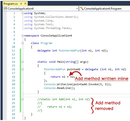 Anonymous Methods In C With An Example Step By Step